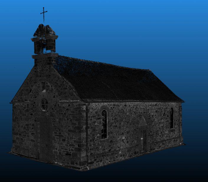 Relevé 3D de la chapelle St-Lingast de Langueux