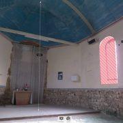 Prises de notes et de cotes sur le nuage de points issus du scan de la chapelle St-Lingast à Langueux (22)