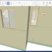 Maquette numérique (BIM) d'une maison réalisée après un scan 3D