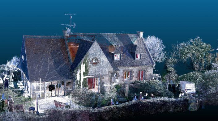 Nuage de points de la maison MO issu de la numérisation 3D