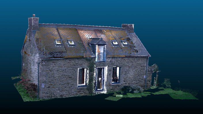 Nuage de points de la maison SA issu d'un scan 3D