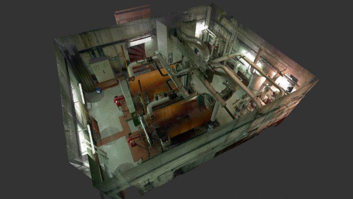 Numérisation 3D d'une chaufferie en vue de la création de la maquette numérique