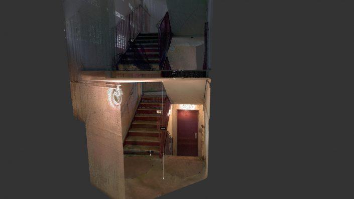 Coupe sur escalier numérisée