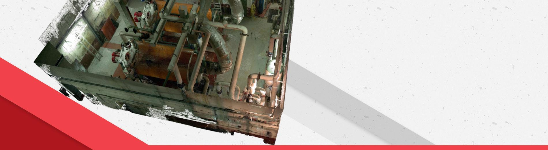 Scan 3D d'une chaufferie en vue de la création de la maquette numérique