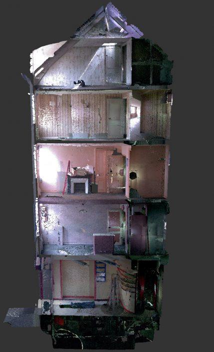 Numérisation 3D d'un immeuble R+5 avec Sous-Sol pour modélisation sous Revit