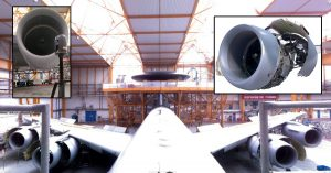 Numérisation d'un moteur d'avion radar Awacs