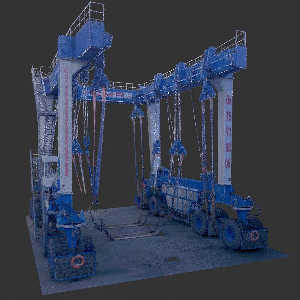 Numérisation 3D d'une grue 350T du port du Légué (St-Brieuc)