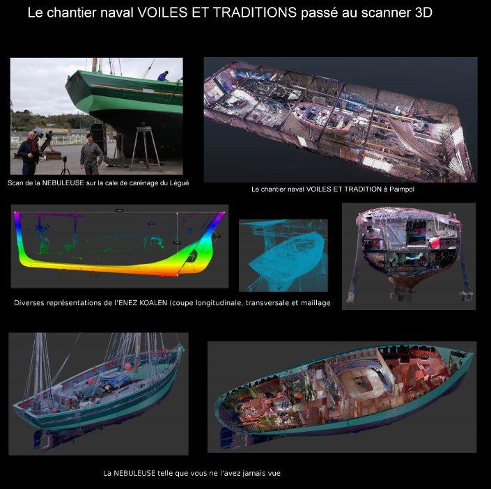 Numérisation 3D des bateaux du chantier naval VOILES ET TRADITIONS