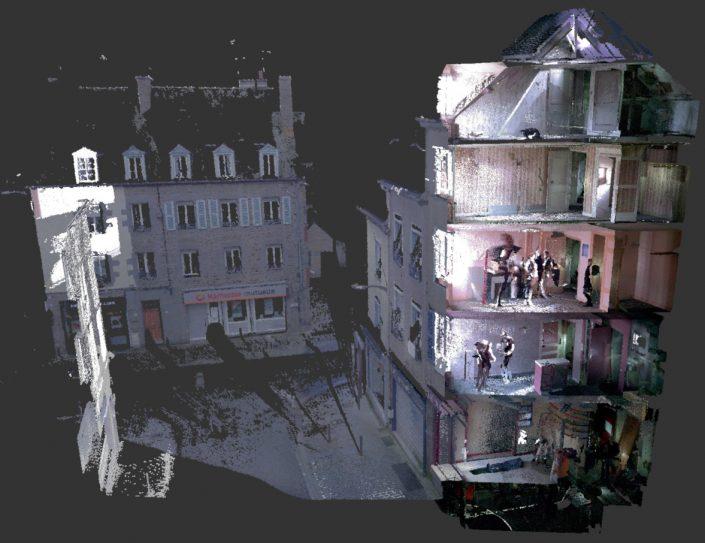 Numérisation d'un immeuble
