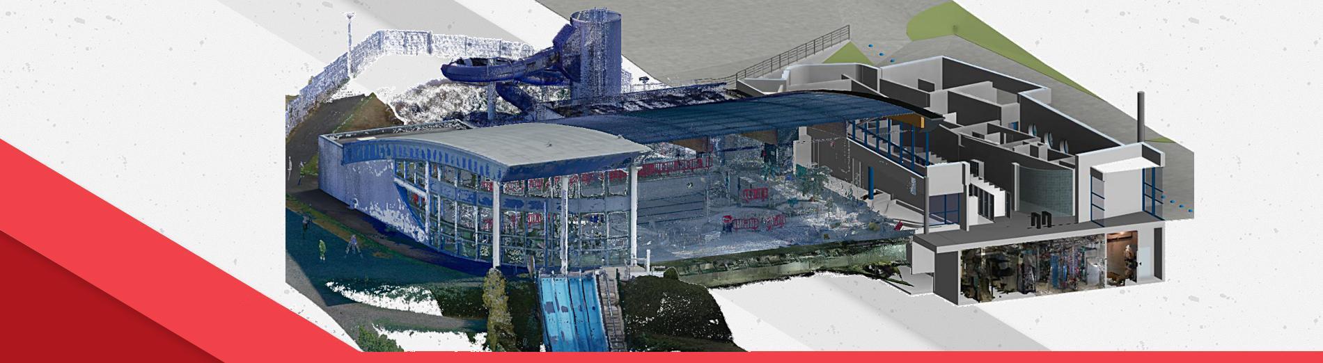 Scan 3D de la piscine municipale GOELYS à Binic-Etables sur mer
