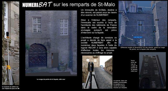 Numérisation d'un immeuble dans les remparts de St-Malo
