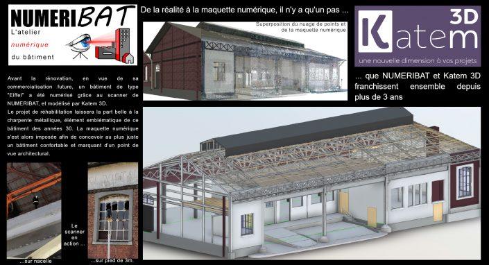 Relevé 3D de l'ancien centre de tri de la gare de St-Brieuc