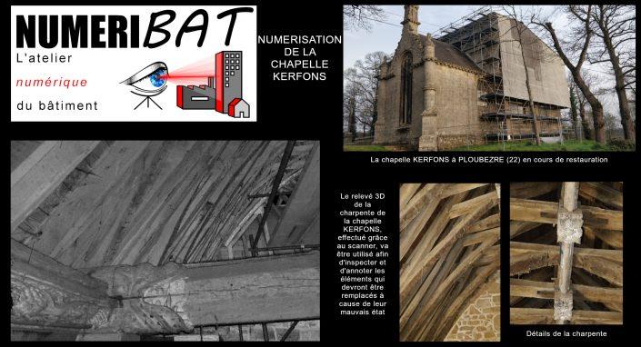 Relevé 3D dans le cadre de la Restauration de la Chapelle KERFONS à PLOUBEZRE